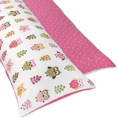 Girls Pink Owl Collection Full Length Body Pillow Cover