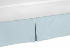 Hayden Blue Collection Toddler Bed Skirt by Sweet Jojo Designs