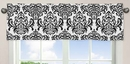 Isabella Hot Pink, Black & White Collection Damask Window Valance