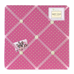 Jungle Friends Collection Pink and Green Polka Dot Fabric Memo Board