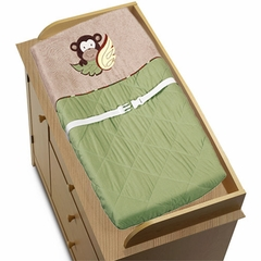 Jungle Monkey Changing Pad Cover by Sweet Jojo Designs