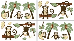 Jungle Monkey Wall Decals - Set of 4 Sheets by Sweet Jojo Designs