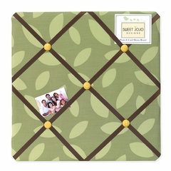 Jungle Time Animals Collection Leaf Print Fabric Memo Board