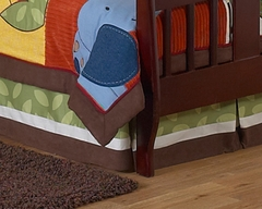 Jungle Time Animals Collection Toddler Bed Skirt by Sweet Jojo Designs