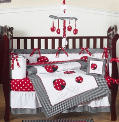Little Ladybug Baby Bedding - 9 Piece Crib Set