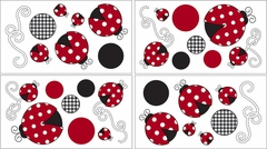 Little Ladybug Wall Decals - Set of 4 Sheets by Sweet Jojo Designs