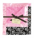 Madison Pink, Black and White Scroll Minky and Satin Baby Blanket