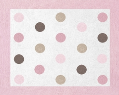 Mod Dots Pink Accent Floor Rug by Sweet Jojo Designs