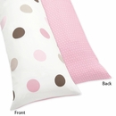 Mod Dots Pink Polka Dots Collection Body Pillow Cover