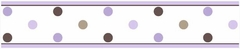 Mod Dots Purple Wall Paper Border By Sweet Jojo Designs