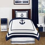 Nautical Anchor Twin Bedding - 4 Pc Comforter Set