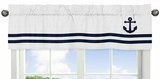 Nautical Anchor Window Valance by Sweet Jojo Designs