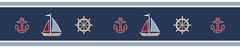 Nautical Nights Sail Boat Wall Paper Border by Sweet Jojo Designs
