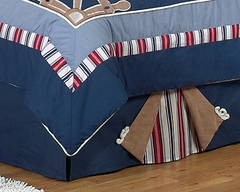 Nautical Nights Sailboat Queen Bed Skirt by Sweet Jojo Designs