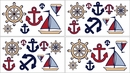 Nautical Nights Sailboat Wall Decals by Sweet Jojo Designs