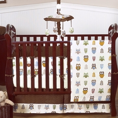 Night Owl Baby Bedding - 9 Piece Crib Set