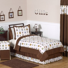 Night Owl Bedding - Kids Bedding Twin 4 Piece Set