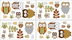 Night Owl Wall Decals - Set of 4 Sheets by Sweet Jojo Designs