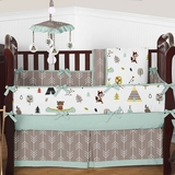 Teepee Outdoor Adventure Baby Boy Crib Bedding - 9 Pc Nursery Set
