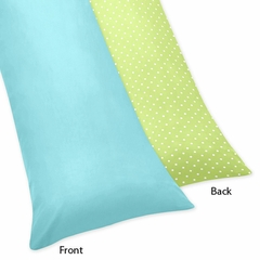 Owl Turquoise and Lime Collection Full Length Body Pillow Cover