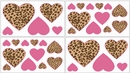 Pink and Brown Cheetah Print Wall Decals by Sweet Jojo Designs