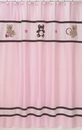 Pink and Brown Teddy Bear Shower Curtain by Sweet Jojo Designs