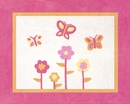Pink and Orange Butterfly Accent Floor Rug by Sweet Jojo Designs