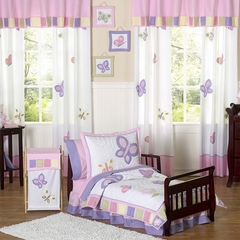 Pink and Purple Butterfly Toddler Bedding Set