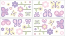Pink and Purple Butterfly Wall Decals by Sweet Jojo Designs