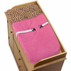 Pink Cheetah Changing Pad Cover By Sweet Jojo Designs