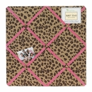 Pink Cheetah Print Fabric Memo Board