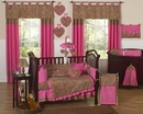 Pink Cheetah Print Girls Baby Bedding 9 Pc Crib Bedding Set