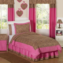 Pink Cheetah Print Girls Bedding 3 Pc Full/Queen Bedding Set