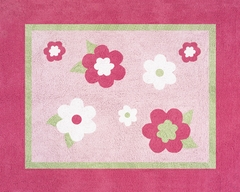 Pink Flower Accent Floor Rug by Sweet Jojo Designs