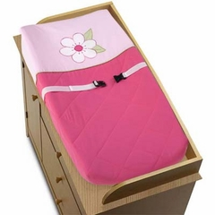 Pink Flower Changing Pad Cover By Sweet Jojo Designs