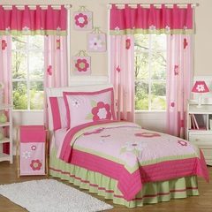Pink Flower Kids Bedding - 3 Piece Full/Queen Set