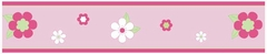 Pink Flower Wall Paper Border By Sweet Jojo Designs