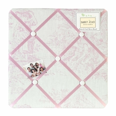 Pink French Toile Collection Fabric Memo Board