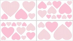 Pink French Toile Collection Gingham Wall Decals by Sweet Jojo Designs
