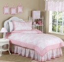Pink French Toile Kids Bedding - 4 Piece Twin Set