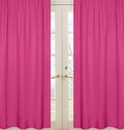 Pink Window Panels Curtains for Chevron Pink and White Collection