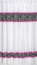 Pink Zebra Print Shower Curtain by Sweet Jojo Designs