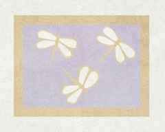 Purple Dragonfly Dreams Accent Floor Rug by Sweet Jojo Designs