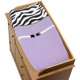 Purple Zebra Changing Pad Cover By Sweet Jojo Designs