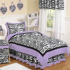 Purple Zebra Kids Bedding - 3 Piece Full/Queen Set