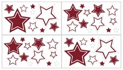 Red and White Modern Hotel Wall Decals by Sweet Jojo Designs