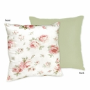 Riley's Roses Shabby Chic Decorative Accent Throw Pillow