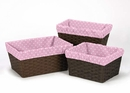 Skylar Collection Pink Dot Basket Liners
