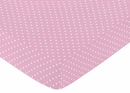 Skylar Collection Pink Dot Print Crib Sheet