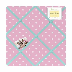 Skylar Pink and Turquoise Fabric Memo Board